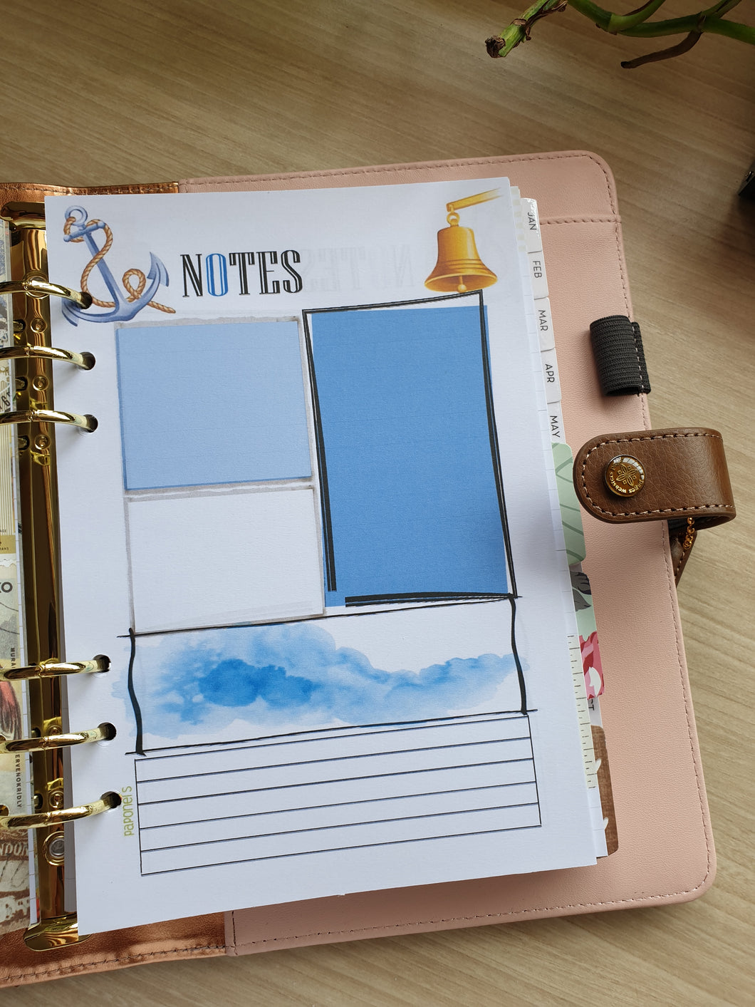 Nautical Notes Planner Refill for Kikki.K Kate Spade Filofax and other Planners