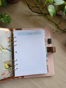 Mint Notes Planner Refill for Kikki.K Kate Spade Filofax and other Planners
