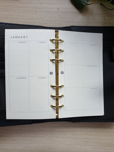 Boxed Vertical and Horizontal Planner Refill for Kikki.K Kate Spade Filofax and other Planners