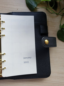 2022 Monthly Planner Refill for Kikki.K Kate Spade Filofax and other Planners
