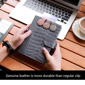 Moterm Genuine Leather Magnetic Clip Durable Notebook Planner Accessory