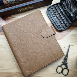 Golden Brown Leather A5 Planner