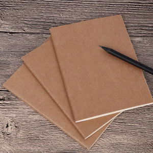 24-piece Lot A5 Kraft Travel Notebook Blank Refill
