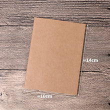 Load image into Gallery viewer, 12-piece Lot A5 Kraft Travel Notebook Blank Refill