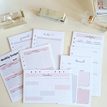 Load image into Gallery viewer, A5 Large Pink Gray Individual Planner Refill