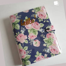 Load image into Gallery viewer, Webster Pages Navy Floral A5 Planner Kit