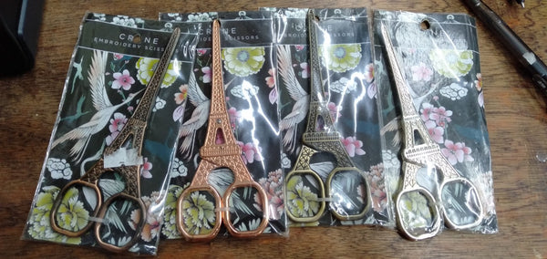 Eiffel Tower Scissors in Gold, Rose Gold, Copper and Bronze