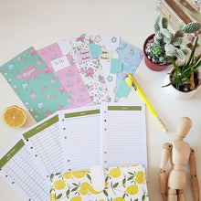 Load image into Gallery viewer, Olive Planner Refill with Floral Dashboard