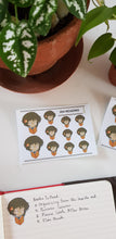 Load image into Gallery viewer, Papon Chibi Stickers: Reading