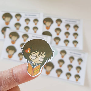 Papon Chibi Stickers: Reading