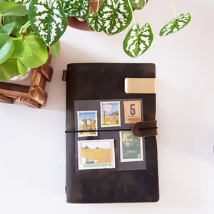 Personal Genuine Leather Travel Journal Notebook