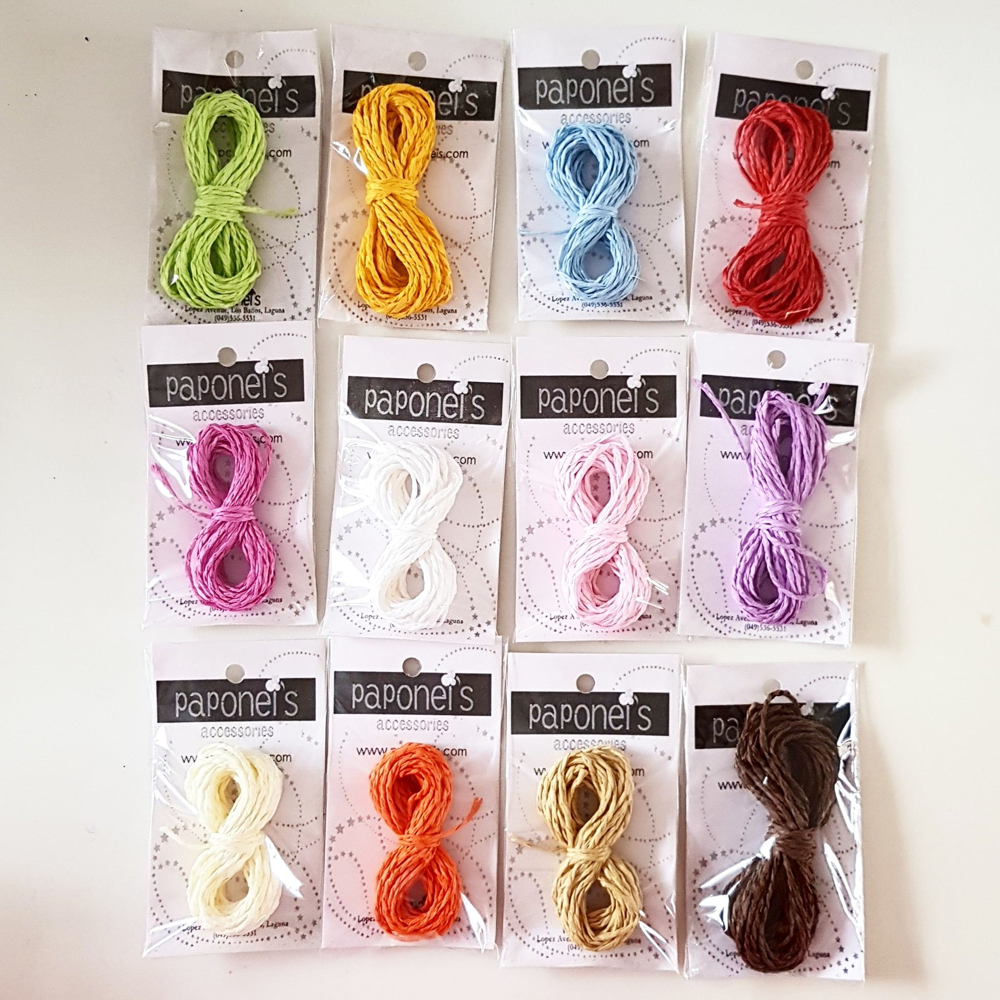 1 dozen Colored Paper Twine