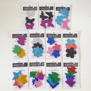 Glittered Foam Stickers 1 Dozen