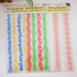 3D Gel Borders 1 Dozen