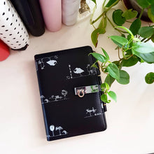 Load image into Gallery viewer, PREORDER Black Quirky Medium Personal Planner