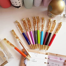 Load image into Gallery viewer, Luxury Gold Foil Ballpoint Pens