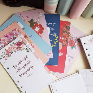 Florals and Bible Verses Planner Refill