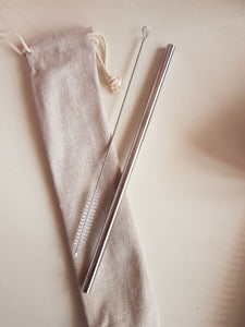 Straight Straw + Canvas Pouch + Brush