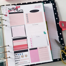 Load image into Gallery viewer, Pink Flower Planner Refill