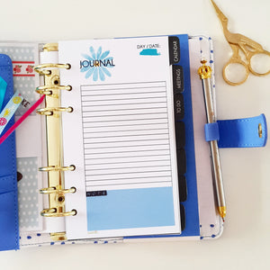 A5 Blue Cupcake Large Individual Planner Refill
