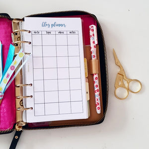 Ideas, Blog and Travel Planner Refill