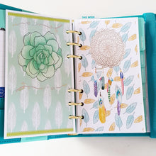 Load image into Gallery viewer, Teal Mint Planner Refill