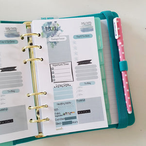 Teal Mint Planner Refill