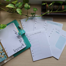 Load image into Gallery viewer, Fresh Mint Planner Refill for Kikki.K Kate Spade Filofax and other Planners