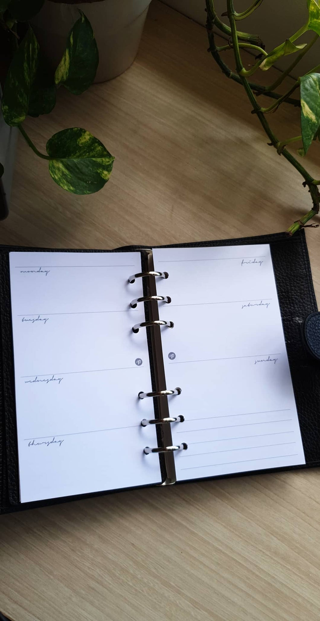 Minimalist Weekly Planner Refill for Kikki.K Kate Spade Filofax and other Planners