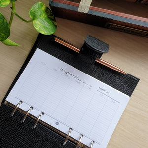 Monthly Planner Refill for Kikki.K Kate Spade Filofax and other Planners