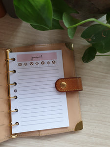 LV-inspired Journal Blush Planner Refill for Kikki.K Kate Spade Filofax and other Planners