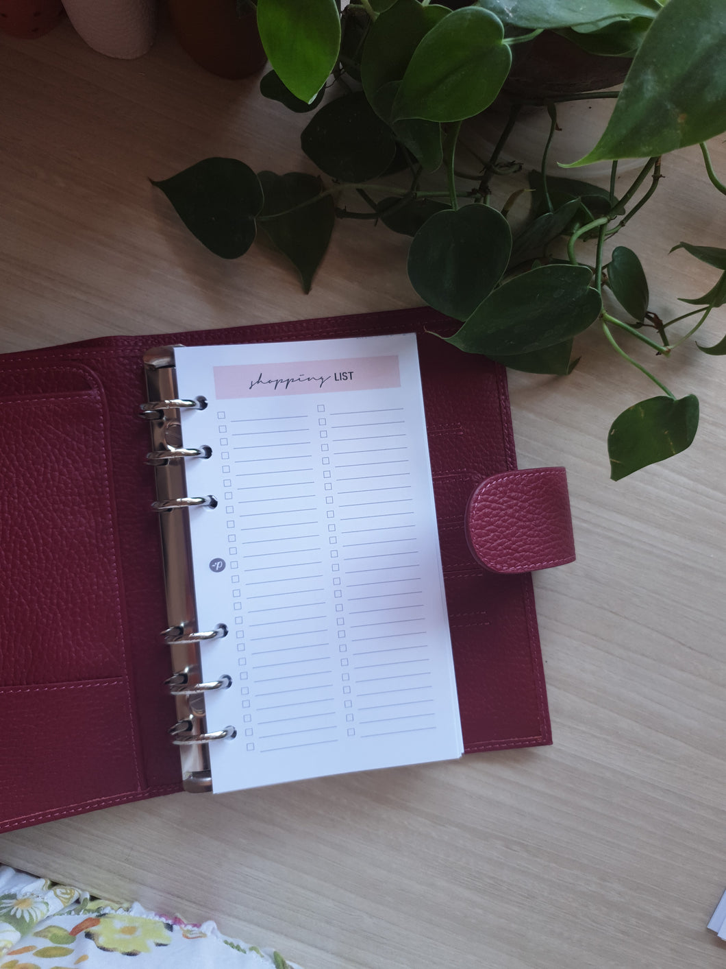 Shopping List Blush Planner Refill for Kikki.K Kate Spade Filofax and other Planners