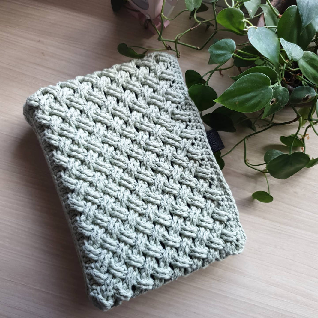 Sage Handmade Knitted Pouch  for A5 Planner