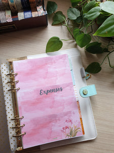 Watercolor Tulips Dashboard Divider with Separate Tabs  Planner Refill