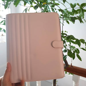 Blush Quilted A5 Kikki.K Leather Planner