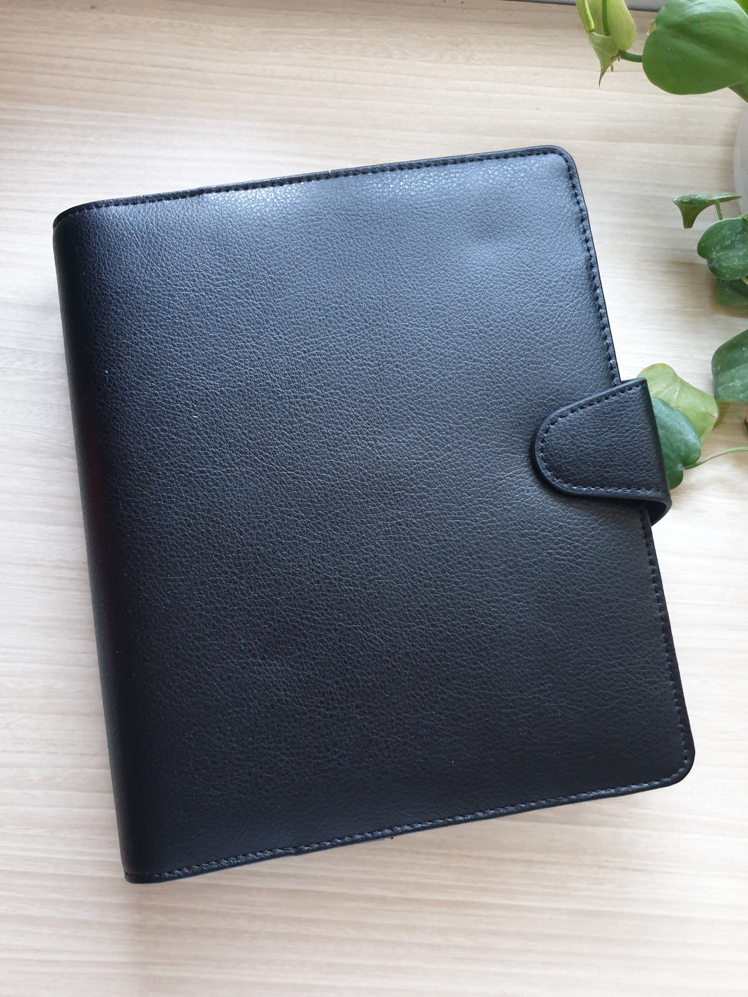 Kikki.K Leather Planner A5 Jet Black / Vintage Rose