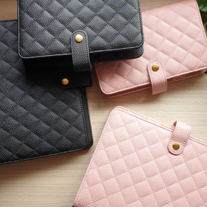 Luxe Quilted Planner in Pink and Black