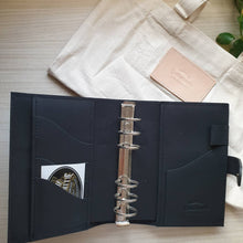 Load image into Gallery viewer, Black Braided Personal Leather Planner by Yard & The Leather Smith