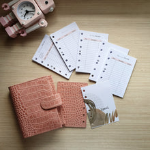 Load image into Gallery viewer, Moterm Crc Pink Pocket Planner with leather flyleaf + Blush Pocket Inserts Planner