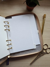 Load image into Gallery viewer, kikki.K B6 Croc Jet Black and Almond Zip Planner