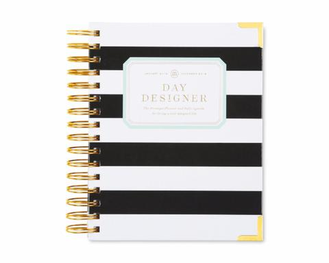 2018 Day Designer Mini Black Stripe