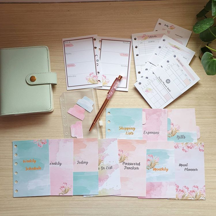 Mint, Pink and Clear Pocket Planner Bundle