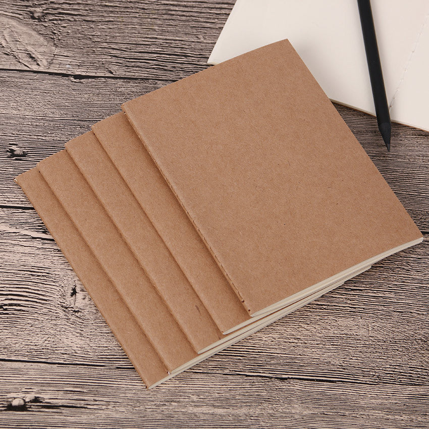 12-piece Lot A5 Kraft Travel Notebook Blank Refill