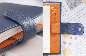 Moterm A7 Blue Orange Notebook Leather Planner
