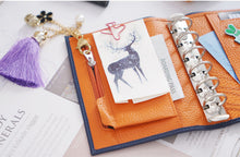 Load image into Gallery viewer, Moterm A7 Blue Orange Notebook Leather Planner