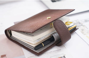 Moterm A7 Brown Notebook Leather Planner