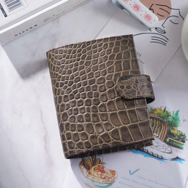 Moterm A7 Croc Coffee Notebook Leather Planner