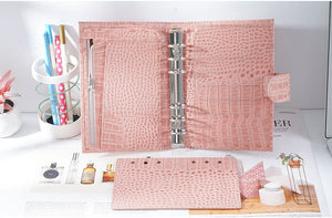 Moterm Personal Croc Pink Leather Planner