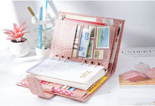 Load image into Gallery viewer, Moterm Personal Croc Pink Leather Planner