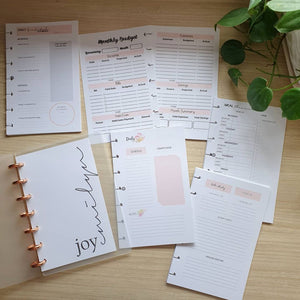 Blush B6 Discbound Planner Bundle 2